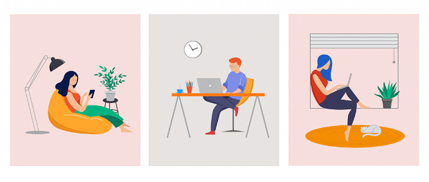 Gestire lo smart working, rappresentazione grafica.